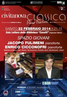 Torna #CivitanovaClassica con un #concerto straordinario dedicato a due giovanissimi talenti delle #Marche: JACOPO FULIMENI e ENRICO CICCONOFRI al #Pianoforte http://www.civitanovaclassica.it/?p=1531
