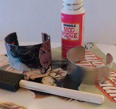 Tutorial on Comic Book Bangle Bracelet