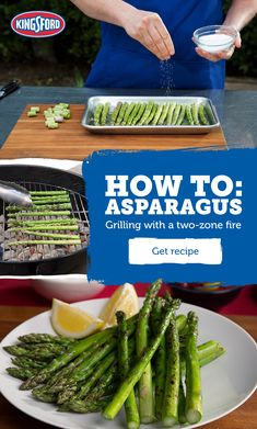 So simple, so quick and so tasty! Nothing beats grilled asparagus cooked with Kingsford® Charcoal. Learn quick tips to avoid charring. Grilled Asparagus, Asparagus Recipe, Grilled Vegetables, Fruits And Veggies, Grilling Recipes, Diet Recipes, Vegetarian Recipes, Cooking Recipes, Healthy Recipes