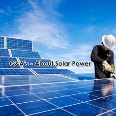 Most common Q&As about #SolarPower HERE!   #GoGreen #EnergyEfficient #KznSouthCoast #GottaLuvKZN Go Green, Energy Efficiency, Solar Power, Solar Panels, Outdoor Decor, Sun Panels, Energy Conservation, Solar Energy, Solar Power Panels
