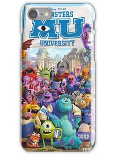 Movie Posters Discover Monsters University iPhone Case iPhone Case by Au University, Monster University, Disney Pixar, Iphone Case Covers, Iphone 7, Movie Posters, 3d, Uber, Monsters