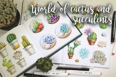 World of cactus and succulents by Xeny on @creativemarket