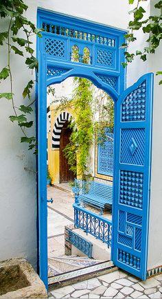 #blue #door