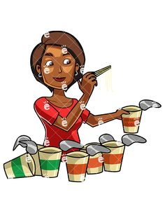 A Black Woman Eating Noodles:  #african #african-american #american #asian #ate #bad #black #body #cartoon #character #chinese #chopsticks #chopsticks #clipart #comfort #containers #convenience #convenient #cooked #cuisine #delivered #delivery #diet #dish #drawing #eat #eatable #eaten #eating #eats #fast #fat #fats #fed #female #food #gastronomy #graphic #greedily #greedy #human #hungry...