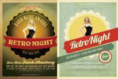 design  Retro Vintage Flyer by vintageflyer