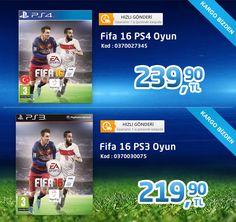 Üpürün'de Fifa 16 PS4 ve PS3 oyun indirimli fiyat ve ücretsiz kargo avantajıyla