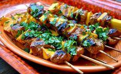 Chow Down on Pork 'n' Mango Skewers