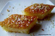 Revani, semolina sponge cake, light and fragrant with lemon juice and lemon zest
