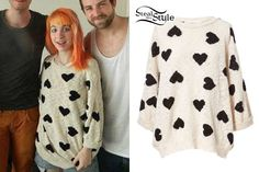 lead singer of Paramore Hayley Williams Style, Punk Outfits, Her Style, Celebrity Style, Couture, Womens Knitwear, Female, Sweatshirts, Paramore