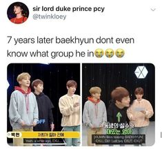 Imagine how funny it'll be if they named the clone EXU instead of X EXO. Kpop Exo, Sehun, Exo Ot12, Chanbaek, K Pop, Nct, Day6 Sungjin, Exo Facts, Jokes