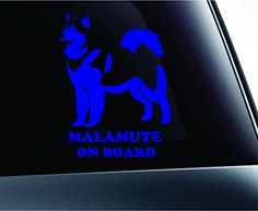 Alaskan Malamute on Board Dog Symbol Decal Funny Car Truck Sticker Window (Blue) ExpressDecor http://www.amazon.com/dp/B00S1RFX3S/ref=cm_sw_r_pi_dp_G5fSub0Z6ST6X