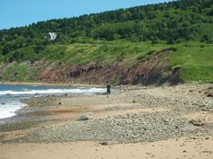Summer on Cape Breton Island Broad Cove Beach. A scene in Inverness County.