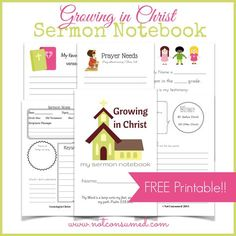 Why keep the sermon restricted to Sunday?  Sermon Notebooks for kids brings the message home...literally. Includes Free printables.