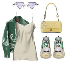 """""""Untitled #134"""" by muvac ❤ liked on Polyvore featuring Alberta Ferretti, Balenciaga and Chanel"""