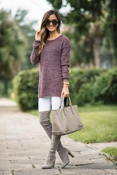 TUNIC SWEATER + THE 'IT' BOOT OF THE SEASON | Sequins & Things