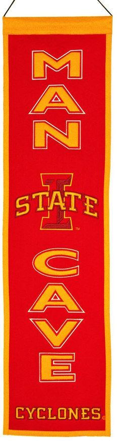 NCAA Iowa State Cyclones Man Cave Banner