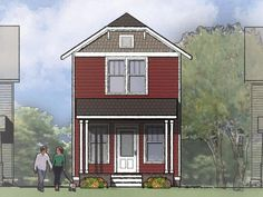 Small Two Story House Plans With Porches | This Two Story Prairie Style  House Of 1153