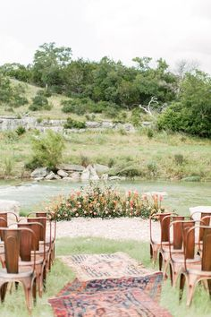 Want to Elope? You Need to See this Intimate Wedding on a Romantic River. Intimate Wedding Ceremony, Outdoor Ceremony, Intimate Weddings, Wedding Aisles, Wedding Ceremonies, Wedding Reception, Spring Wedding, Garden Wedding, Boho Wedding