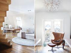 Luftig på loftet, avlastningsbordet sidebordet ved sofaen nice