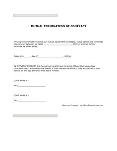 Letter cancellation booking hotel auto contract agreement cheque sample contract mutual termination letter agreement form and employment spiritdancerdesigns Images