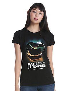 Falling In Reverse Chrome Heart Girls T-Shirt, BLACK