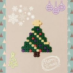 Christmas tree perler beads by 96mary