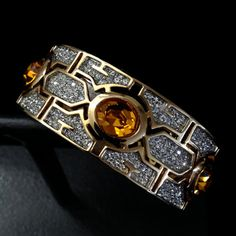 Exquisite Art Deco Style Hinged Bracelet by Vintageimagine on Etsy