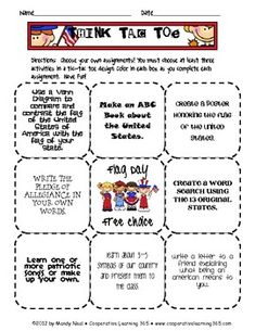 Think-Tac-Toe to celebrate Flag Day.  Students have a choice of the activities they want to complete.  Activities include compare and cont...