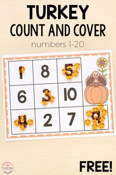 Free Printable Activities for Kids These Thanksgiving turkey count and cover mats are perfect for Thanksgiving math centers in kindergarten or preschool! Thanksgiving Activities For Kids, Thanksgiving Preschool, Printable Activities For Kids, Counting Activities, Thanksgiving Turkey, Thanksgiving Prayer, Thanksgiving Appetizers, Preschool Printables, Thanksgiving Outfit