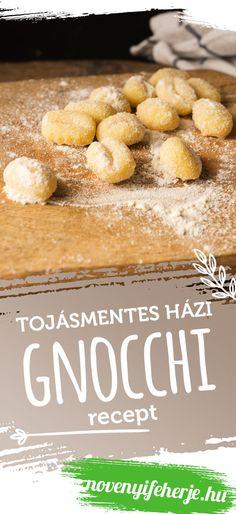 Készíts tojásmentes vegán gnocchi-t házilag! Mindössze 5 hozzávaló szükséges az elkészítéséhez. A receptet a novenyifeherje.hu oldalon találod! #recept #vegán #vegánrecept #gnocchi #vegangnocchi #gnocchirecept #mentes #tojásmentes #tészta #receptek #egyszerűrecept #fehérje #növényifehérje #veganprotein #veganproteintriplex Gnocchi, Pretzel Bites, Hamburger, Protein, Bread, Vegan, Food, Mint, Brot