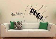Manicure Wall Decal Vinyl Stickers Girl Hands by BestDecalsUSA
