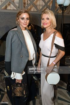 Olivia Palermo and Mariya Dykalo attend the Aspinal of London presentation during London Fashion Week September 2017 on September 18, 2017 in London, England.