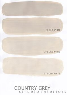 """Country Grey Excellent info from Ciruelo Interiors Blog; """"Annie Sloan Chalk Paint lovers: Here is my extended colours range"""" show how the colors can be mixed to achieve huge color range~"""