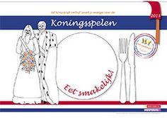 Koningsspelenpakket 2013 - gratis placemat