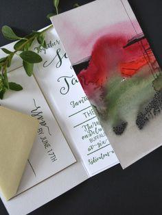 louelle design studio blue watercolor ombre lace wedding invitation rochester new york wedding invitations pinterest watercolors studios and wedding - Wedding Invitations Rochester Ny