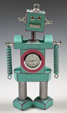 robot clock for @Katie Hrubec Hrubec Holland