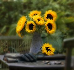 Sunflowers by Peter Davidson, via 500px