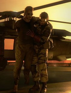 Here is an example of expressive lighting, here Venom Snake is carrying his comrade, Kazuhira Miller, off the chopper. The sunlight lightly touches their faces, showing that even dogs of war, have hearts of metal.