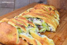 Stromboli filled with aparagus