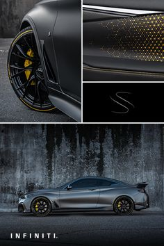 INFINITI has always wondered what it would look like if technology was designed for the road. Well, now we know: the Project Black S Street Racing Cars, F1 Racing, Wide Body Kits, Infiniti Q50, Top Luxury Cars, Car Tuning, Unique Cars, Car Wrap, Concept Cars