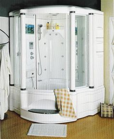 steam shower with whirlpool massage bath *Ouch on that price, but I want one!*