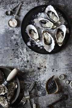 Oysters Food & prop styling www.kirstybrysonf... Photography bechudson.com.au