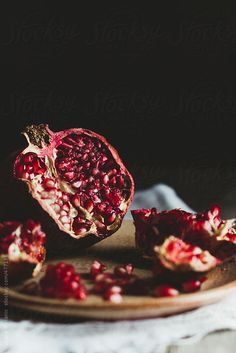 Pomegranate and seeds opened Food Photography Styling, Food Styling, Still Life Photos, Mindful Eating, Fruit Art, Greek Gods, Still Life Photography, Food Art, Berries