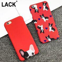 Nette Tasche Hunde Phone Cases Für iphone 6 Fall Für iphone 6 S 6 Plus 5 5 S Rückseitige Abdeckung Cartoon Rot Farbe Hund Capa Fundas Coque HEIßER!