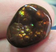 MEXICAN Fire Agate Not Enhanced Multi-colored Gemstone Free Form 12x15.......