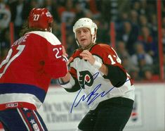 "On December 21, 1993 the Philadelphia Flyers' tough guy Jim Cummins and Washington Capitals' heavyweight Craig ""The Chief"" Berube have a rematch after getting into a scrap 12 days ago, a fight in which Berube dropped Cummins with a right hand. The two gladiators squaring off (in fact the squareoff was longer than the actual fight and Cummins seems a bit tentative) during a game at the Spectrum Arena in Philadelphia, Pennsylvania."