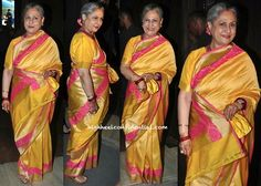 Photographed at a recent Birthday do, Jaya Bachchan cut quite the cheery picture. She looked lovely!