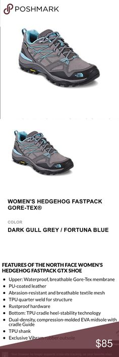 Womens Hedgehog Fastpack Gore-Tex hiking shoes Women's size 9 hiking/trail shoes. Worn once, in great condition, like new. Cute colors and style, but they don't fit me. ☹️ these really would be like new If you don't mind cleaning the dirt off bottom soles/crevices. I work a lot and don't have time, so pricing them lower solely for the little bit of dirt at bottom. The North Face Shoes Athletic Shoes