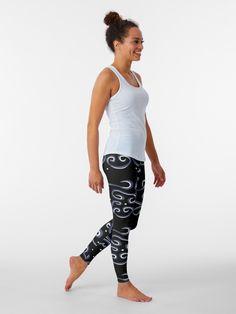 #cool #leggings #tights #swirls #original #unique #pattern #pretty #stylish #exercise Yellow Leggings, Grey Leggings, Yoga Leggings, Plus Size Khaki Pants, Space Leggings, Black Phillip, Black Space, Suits For Women, Scrappy Quilts