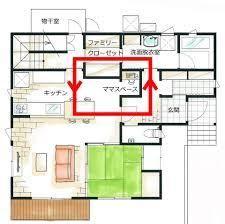 「間取り 家事動...」の画像検索結果 House Layout Plans, House Layouts, Craftsman Floor Plans, House Floor Plans, Japan House Design, Japanese Buildings, Japanese Interior Design, House Blueprints, House Inside